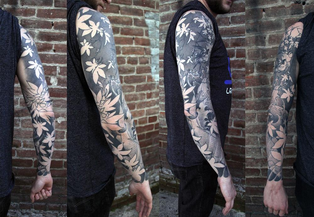 Tattoos - koi sleeve - 126936